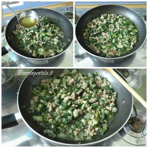 aggiungere bietole e cuocere