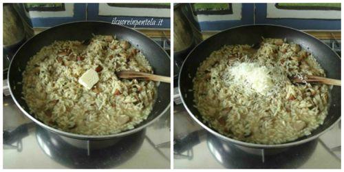 mantecare riso con burro e parmigiano