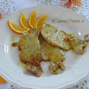 scaloppine di maiale all'arancia