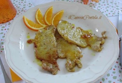 Scaloppine di maiale all'arancia