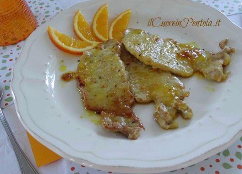 scaloppine di maiale all'arancia ricetta