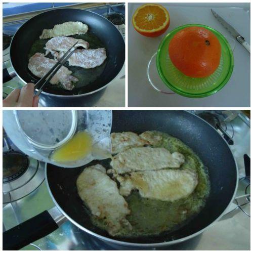 aggiungere succo d'arancia