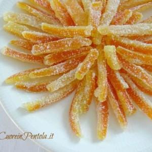 scorzetta di arancia candite
