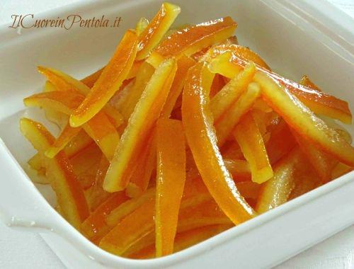 scorzette d'arancia candite ricetta facile e veloce
