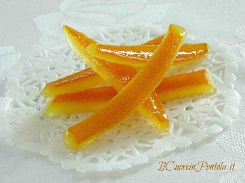 scorzette di arancia candite ricetta