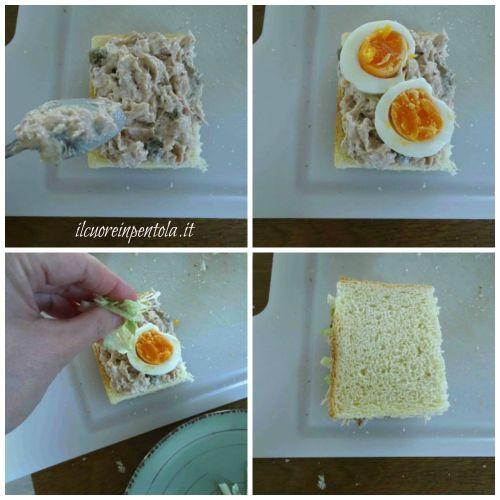 farcire tramezzini con tonno e uova sode