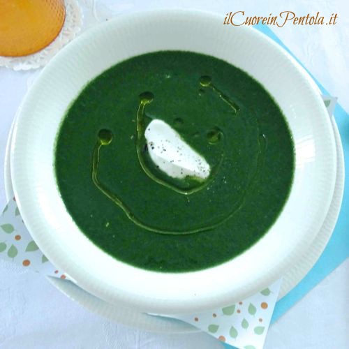 vellutata di spinaci ricetta