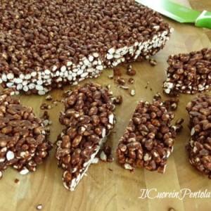 barrette di riso soffiato al cioccolato ricetta