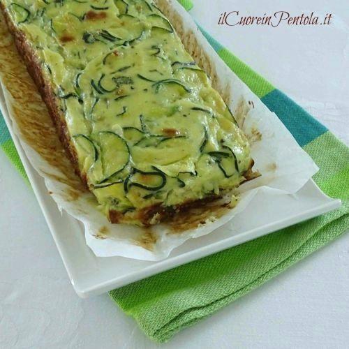 flan di zucchine ricetta vegetariana