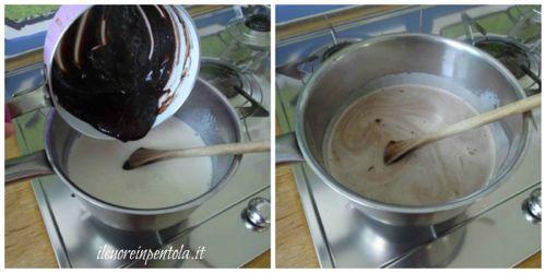 aggiungere cioccolato sciolto
