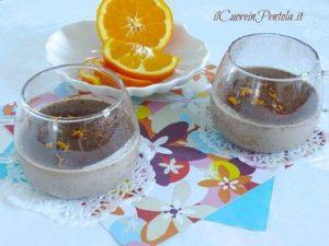 Panna cotta cioccolato e arancia