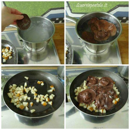 cuocere ravioli e mantecare