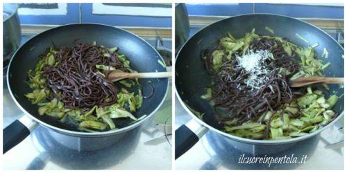 aggiungere tagliolini al cacao e mantecare