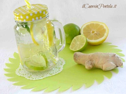 acqua detox limone lime zenzero