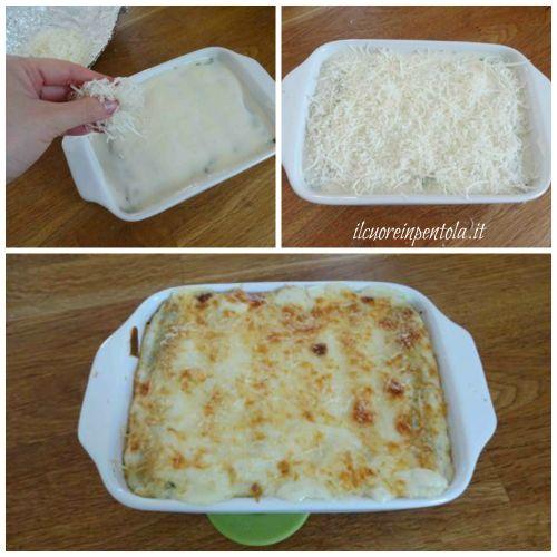 ricoprire con parmigiano grattugiato