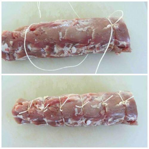 legare filetto di maiale