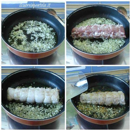 rosolare filetto di maiale
