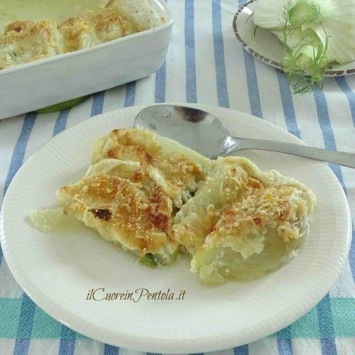 finocchi gratinati con latte e parmigiano ricetta