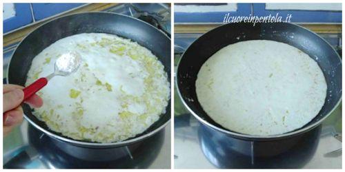 aggiungere latte e farina
