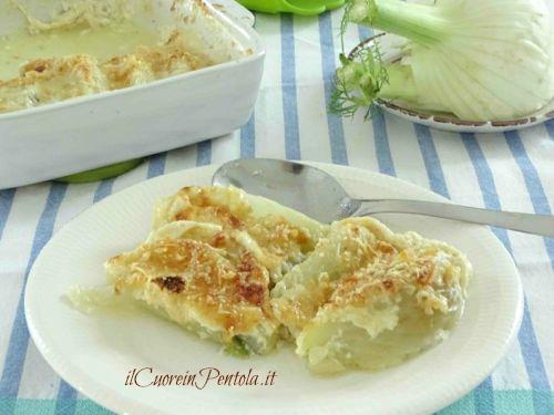 finocchi gratinati con latte e parmigiano