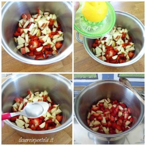 cuocere marmellata di fragole senza zucchero