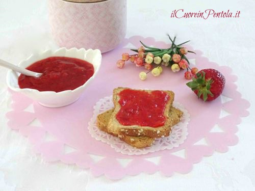 marmellata fragole senza zucchero