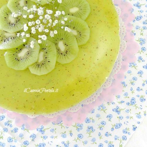 cheesecake al kiwi ricetta