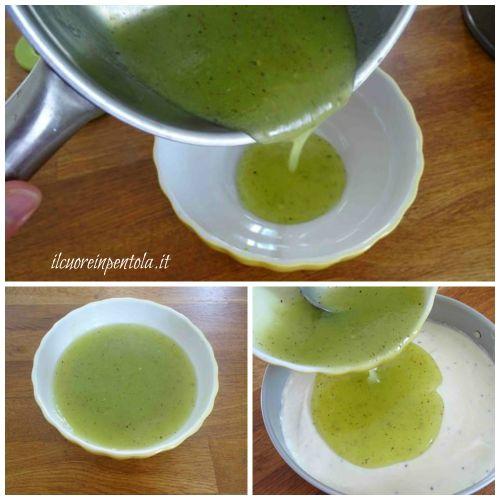 lasciare intiepidire crema al kiwi