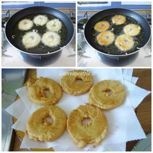friggere frittelle di ananas