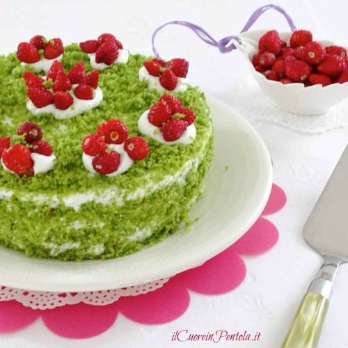 green cake ricetta