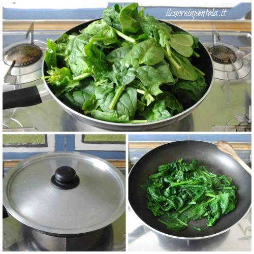 cuocere spinaci