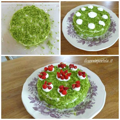 decorare green cake
