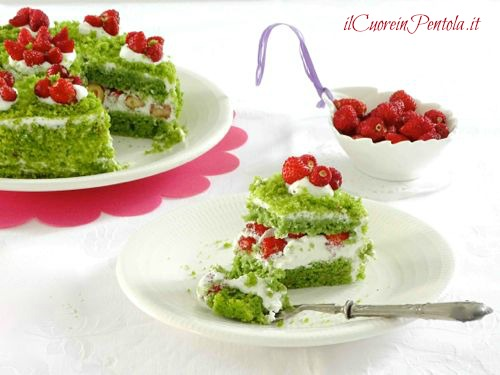 green cake spinaci