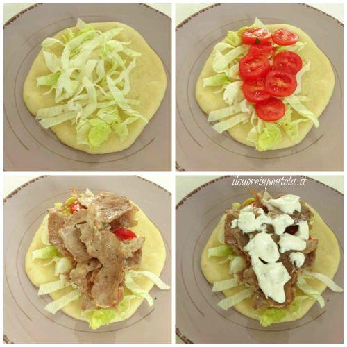 condire pita gyros con verdure
