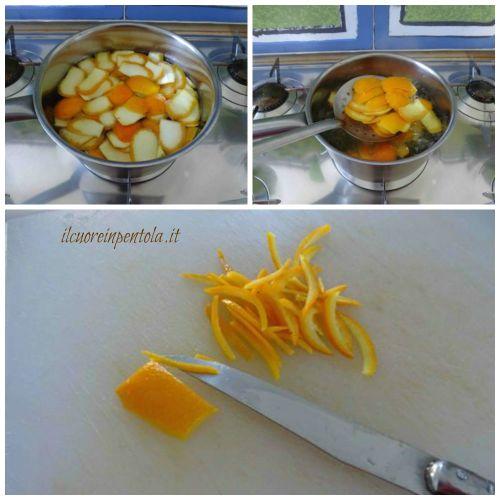 sbollentare bucce arancia