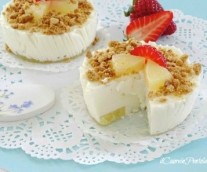 Mini cheesecake all'ananas