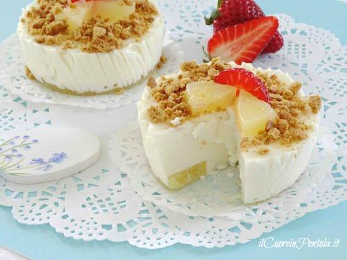 mini cheesecake alla'ananas