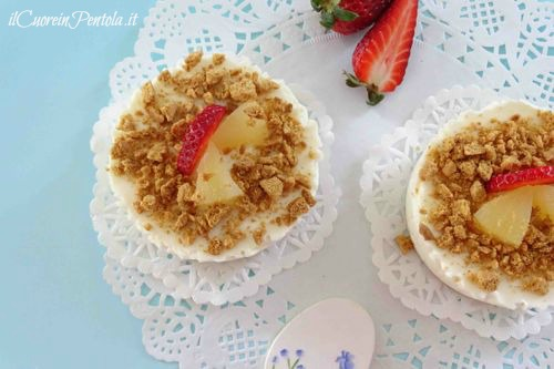 mini cheesecake all'ananas ricetta
