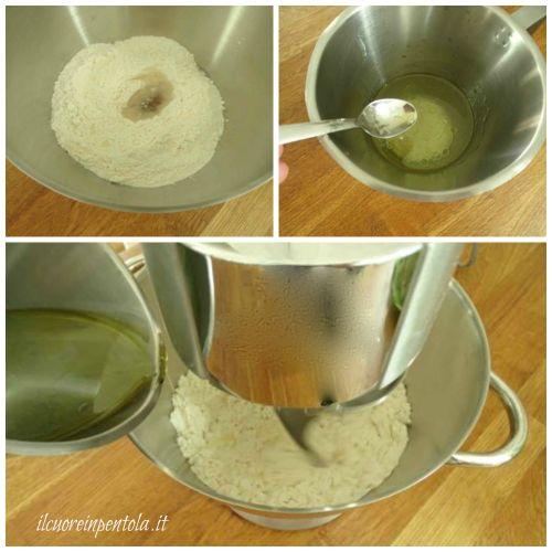 preparare impasto pane pita