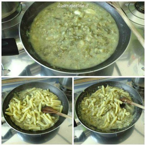 aggiungere pasta e mantecare