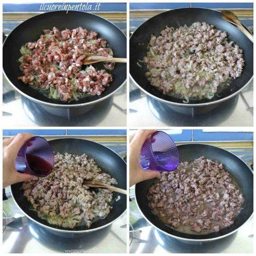 rosolare salsiccia e sfumare