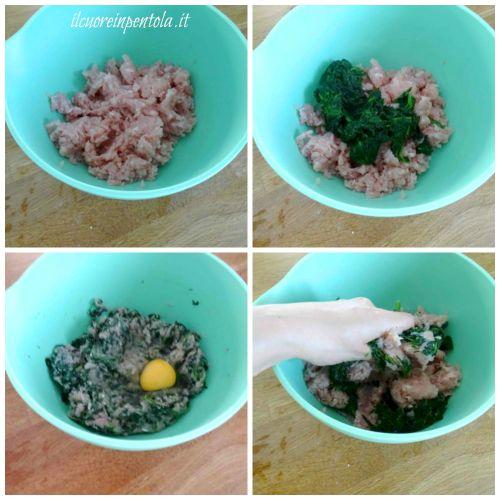 preparare impasto spinacine