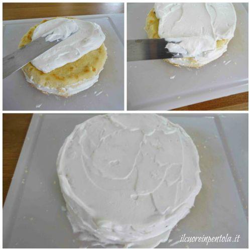 ricoprire torta con panna