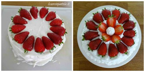 decorare torta alle fragole