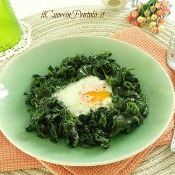 uova e spinaci
