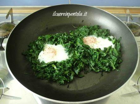 uova all'occhio di bue cottura