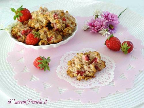 biscotti cocco e fragole ricetta