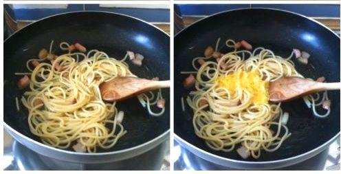 aggiungere crema d'uovo
