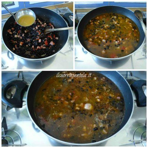 aggiungere brodo di pollo e aromi