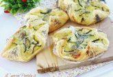 Fagottini di sfoglia con zucchine e ricotta